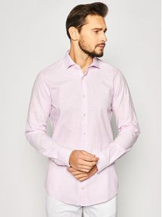 Strellson Koszula Sereno 30020157 Różowy Slim Fit