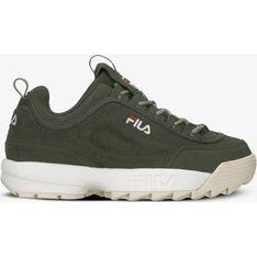 Sneakersy damskie Fila sportowe sznurowane na platformie bez wzorów