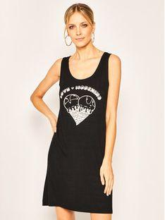 LOVE MOSCHINO Sukienka codzienna W5A9001E 2151 Czarny Regular Fit