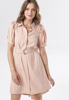 Jasnoróżowa Sukienka Calomis
