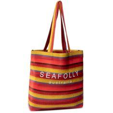 Torebka SEAFOLLY - Baja Stripe Neoprene Tote 71561-BG Saffron