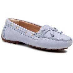 Mokasyny CLARKS - C Mocc Boat2 261597634 Pale Blue Leather
