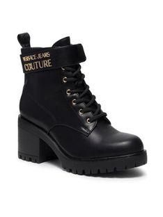 Versace Jeans Couture Botki 71VA3S90 Czarny