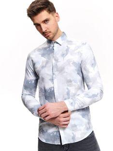 Koszula z nadrukiem typu tie dye o kroju slim