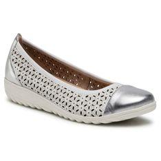 Baleriny CAPRICE - 9-22153-26 White/Silver 191