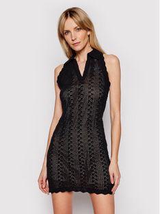Pinko Sukienka dzianinowa Attaccante PE 21 BLK01 1G15RG Y6T9 Czarny Slim Fit