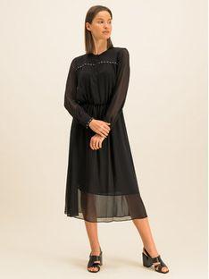 DKNY Sukienka koszulowa P9JB6DKE Czarny Regular Fit