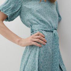 Reserved - Sukienka z drobnym wzorem - Zielony