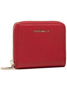 Coccinelle Mały Portfel Damski Metallic Soft E2 HW5 11 A2 01 Czerwony