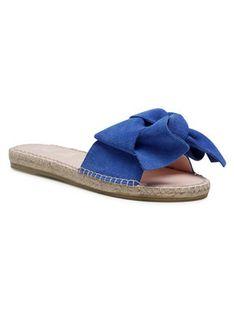 Manebi Espadryle Sandals With Bow M 3.5 J0 Niebieski