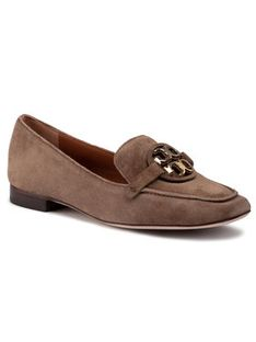 Tory Burch Lordsy Metal Miller 15Mm Loafer 63250 Brązowy