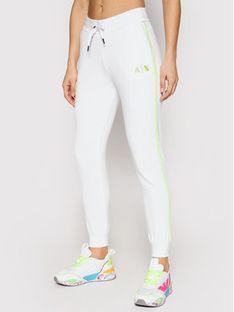 Armani Exchange Spodnie dresowe 3KYP85 YJ3NZ 1100 Biały Regular Fit