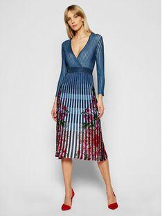 Desigual Sukienka dzianinowa Cloud 21SWVF04 Kolorowy Slim Fit