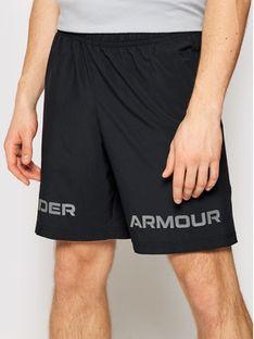Under Armour Szorty sportowe Woven Graphic Wordmark 1361433 Czarny Loose Fit