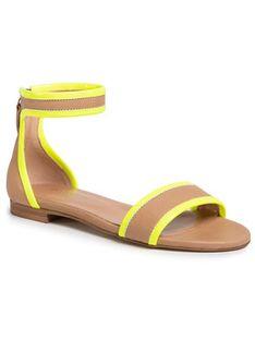 TWINSET Sandały Sandalo 201TCP014 Brązowy