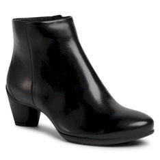 Botki ECCO - Sculptured 45 23048301001  Black