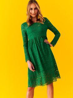Koronkowa sukienka z podwyższonym stanem