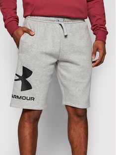 Under Armour Szorty sportowe Rival Fleece Big Logo 1357118 Szary Loose Fit