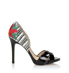 Czarno-białe sandały