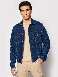 Pepe Jeans Kurtka jeansowa GYMDIGO Pinner PM400908 Granatowy Regular Fit