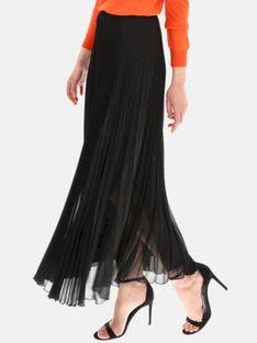 Czarna spódnica plisowana maxi L'AF KARMEN