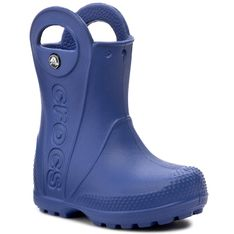 Kalosze CROCS - Handle It Rain Boot Kids 12803 Cerulean Blue