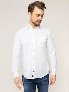Strellson Koszula Carver 30018831 Biały Slim Fit