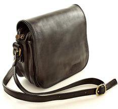 Włoska torebka na długim pasku MAZZINI - Alabama Classico czarny