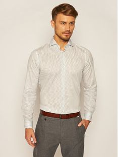 Strellson Koszula Sereno 30023153 Biały Slim Fit