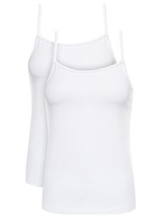 Calvin Klein Underwear Komplet 2 topów Cami 000QS6440E Biały Regular Fit