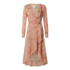 Sukienka kopertowa ze wzorem na całej powierzchni