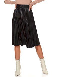 Plisowana spódnica za kolano