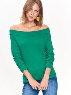 Bluzka dzianinowa cold shoulder w modnym kolorze