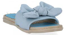 Modne klapki damskie firmy Givana Błękitne (kolory)