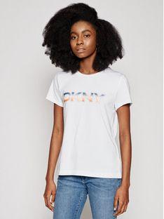 DKNY T-Shirt P1AVZDNA Biały Regulra Fit