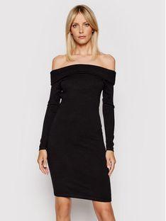 Guess Sukienka dzianinowa Ines W1YK0H Z2V40 Czarny Slim Fit