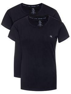 Calvin Klein Underwear Komplet 2 t-shirtów Lounge 000QS6442E Czarny Regular Fit