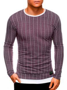 Bluza męska bez kaptura 1144B - bordowa