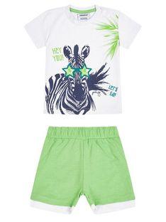 Primigi Komplet T-Shirt i szorty sportowe Free Wild 45191011 Kolorowy Regular Fit