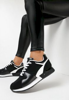 Czarne Buty Sportowe Shearah