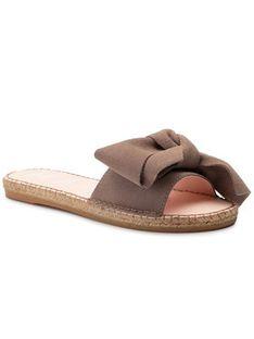Manebi Espadryle Sandals With Bow K 1.9 J0 Brązowy