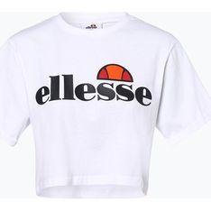 Bluzka damska Ellesse z krótkimi rękawami biała z okrągłym dekoltem
