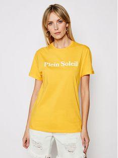 Drivemebikini T-Shirt Unisex Plein Soleil 2020-DRV-003_YEL Żółty Relaxed Fit