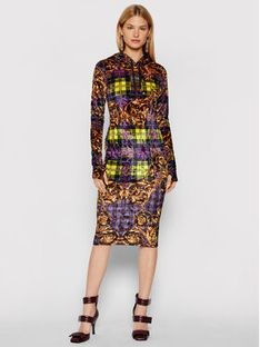 Versace Jeans Couture Sukienka dzianinowa 71HAO927 Kolorowy Regular Fit