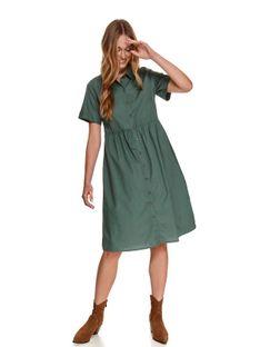 Tkaninowa koszulowa sukienka