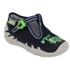 Befado obuwie dziecięce 110P430 czarne zielone