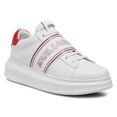 Sneakersy KARL LAGERFELD - KL52535 White Lthr