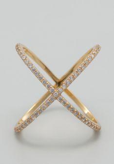 LES FAVORITES Paris - Pierścionek - Biżuteria pozłacana - srebro wysokiej próby -  cyrkonia - złoty/przezroczysty