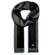 Szalik LACOSTE - RE3679  Black/Green 964