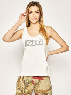 Roxy Top Closing Party ERJZT04805 Biały Regular Fit
